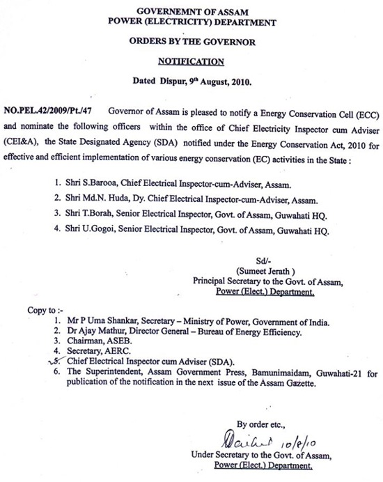 ECC Notification 2010